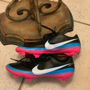 Nike Cleats (Blue Pink and Black) Mercurial Style